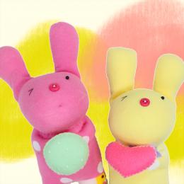 創作款:情人兔