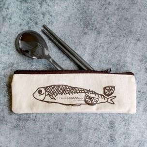 檸檬鹽烤秋刀魚|不鏽鋼餐具組
