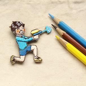 一起踏青繡片別針|小學課本的逆襲
