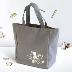小舵手食堂 絲瓜蛤蜊帆布袋